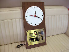 """1966-69 Chevrolet Dealer Showroom Electric Clock """"Every 6 Seconds"""" - Works Great"""