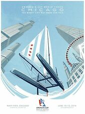 America's Cup 2016 World Series Chicago Limited Edition Commemorative Poster Rar