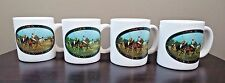 Polo Ralph Lauren Coffee Mugs Tea Cups Lot Set Horses VTG Equestrian Rider Game