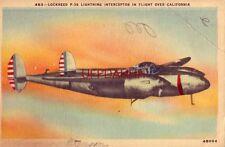 1943 LOCKHEED P-38 LIGHTNING INTERCEPTOR IN FLIGHT. Pvt Richard Oertel 414th