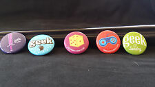 5 SAN DIEGO COMIC CON BUNDLE - GEEK AND SUNDRY/ Geek Buttons