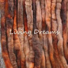 SPIN FELTING hand dyed LIGHT BROWN Top Wool Roving Craft Fiber NEEDLE SOAP WET