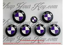 WHITE & PURPLE BMW Badge Emblem Overlay HOOD TRUNK RIMS FITS ALL BMW M Sport