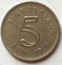 Malaysia 5 sen 1978 coin