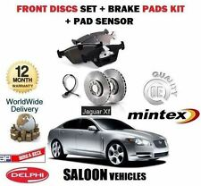 FOR JAGUAR XF 2.7TD 3.0i 4.2i 2008-  FRONT BRAKE DISCS SET + PADS KIT + SENSOR