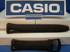 Casio Watch Band STR-300 C. Black Rubber Phys Chrono Lap Memory 60 Strap