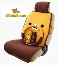 Rilakkuma Car Seat Cover Set 5 Seats 11pcs Steering Wheel Cover