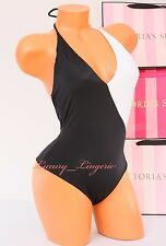 Victoria's Secret VS 1 One Piece Swim Suit Surf Padded Swimsuit L Black & White