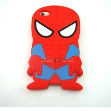 Cover CUSTODIA per IPHONE 4 4S Silicone 3D SPIDERMAN UOMO RAGNO SUPEREROI
