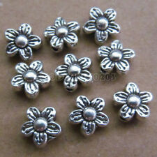30pc Tibetan Silver 2-Sided Flower Spacer Beads Accessories Findings B0114P
