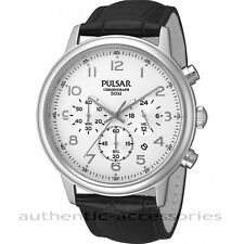 PULSAR by Seiko Gents Chronograph Watch WHITE PT3 383 New & Boxed PT3383X1 10atm