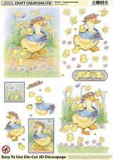 A4 FEATHERED FRIENDS TOPPER EMBELLISHMENTS FOR CARDS AND CRAFTS