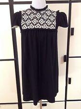 Jonovich Hawk Black Lace Baby Doll Short Dress Cap Sleeves Sz 4