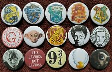 Harry Potter Button Badges x 15 (Set 2). Pins. Wholesale. Collector. Bargain :0)