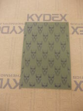 KYDEX T SHEET 297 X 210 X 2MM A4 SIZE  OLIVE DRAB SMALL SKULL INFUSED PANEL