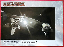 "Battlestar galactica-premiere edition-carte #38 - ""colonial one"" - détruite?"