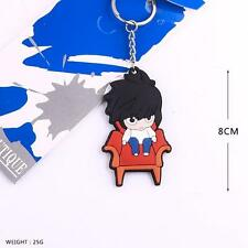 Death Note L Soft Rubber Key chain Key Ring Pendant Anime Cosplay Gift