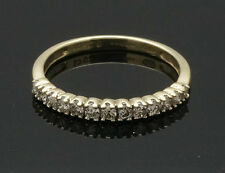 9ct Yellow Gold Diamond(0.25ct) Eternity Ring (Size L 1/2) 2mm Wide