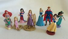 Disney Store Figurines Princess 8 pc Ariel Rapunzel Mulan Aurora Snow White