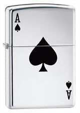 Zippo Windproof High Polished Chrome Lucky Ace Lighter,  24011, New In Box