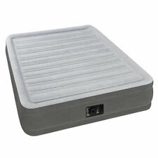 Intex Inflatable Full Airbed Full Size Built In Electric Pump Air Mattress Bed
