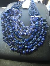 $55 Kenneth Cole Multi Stone Blue Drama Necklace