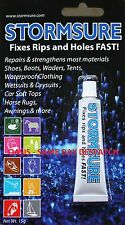 STORMSURE 15G FLEXIBLE REPAIR ADHESIVE GLUE CLEAR FIX TENT/AWNING RIPS HOLES