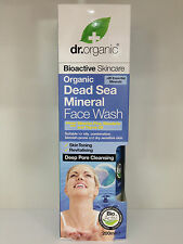 Dr Organic Dead Sea Mineral Face Wash 200ml. Suitable for Oily & Dry Skin
