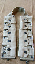 g2a WWII US INFANTRY AIRBORNE M1 GARAND RIFLE 10 POCKET AMMO BELT OD#3 KHAKI