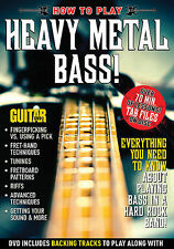 HOW TO PLAY HEAVY METAL BASS GUITAR WORLD DVD NEW