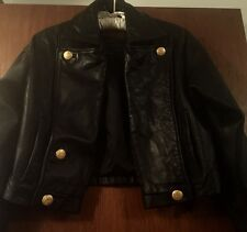 Express Black Leather Biker Moto Jacket in Size Small