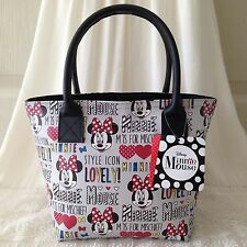 "DISNEY MICKEY MOUSE Bag Handbag Purse Tote Shopper Bag W 10"" x H 7.5"" cm (S)."