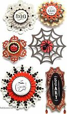 EK SUCCESS JOLEE'S 3-D STICKERS SCARY SPIDERS HALLOWEEN  LARGE DOILY MEDALLIONS