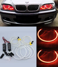 Bright Cherry-Red 4Pcs CCFL Angel Eyes Halo Rings Kit For BMW E36 E39 E46  W1