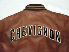 * CHARLES CHEVIGNON veste en cuir * cintre * vintage * Marron * support * Gr: xl * tip top