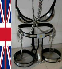 Full Male Chastity Belt Device cage with thigh bands & bra 65-110cms
