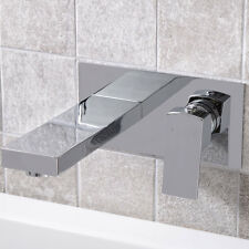 Bathroom Bath Tub Modern Chrome Brass Wall Mounted Mixer Faucet Tap 91701