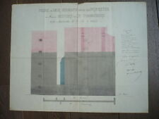 DESSIN D'ARCHITECTURE AUTHENTIQUE 1886/ 7 ET 73  RUE MADAME PARIS