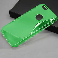 HOUSSE ETUI COQUE SILICONE GEL VERT  APPLE IPHONE 6