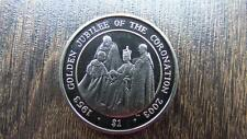 STUNNING 2003 SIERRA LEONE PROOF $1 THE QUEENS GODEN JUBILEE