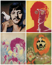 "A Set of 4 Beatles Psychedelic Posters 18"" x 14"""
