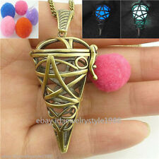Glow Locket Necklace Cage Perfume Aromatherapy Essential Oil Diffuser Ice Cream
