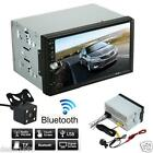 """7"""" Double 2Din In Dash Car Stereo MP3 Player Touch Bluetooth Radio FM Aux+Camera"""