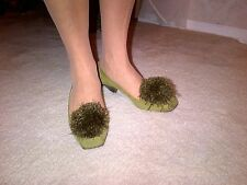 ISL olive  suede shoes size 7,5