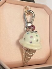 JUICY COUTURE Vanilla Ice Cream Cone Charm Brand new in box w tags!!!!