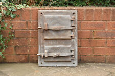 33 x 47.7 cm old cast iron fire bread oven door doors flue clay range pizza