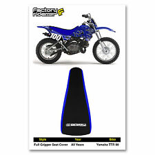 YAMAHA TTR 90 Blue/Black GRIPPER SEAT COVER BY Enjoy Mfg