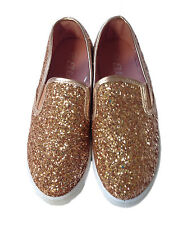 Kids Girls New Glitters Slip-On Pumps Plimsolls Sneakers Skaters Trainers Shoes