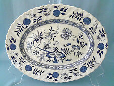Wood & Sons Old Vienna platter ironstone Blue Onion
