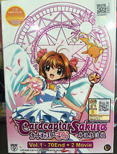 Anime DVD: Cardcaptor Sakura (1-70 End)+2 Movie_Good English Sub_FREE SHIPPING